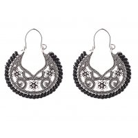 E1210 - Hollow carved earrings