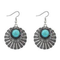 E1215 - Fashion hollow alloy smear fan-shaped earrings
