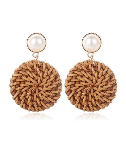 E1226 - Pearl braided earring