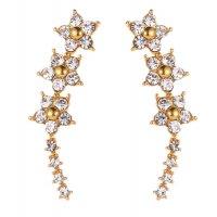 E1227 - Korean style five-pointed star earrings