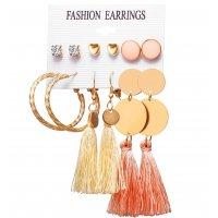 E1238 - Pearl Love Zircon Earring Set