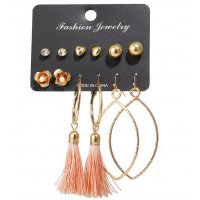 E1240 - Simple Tassel Earring Set