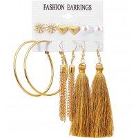 E1241 - Floral Tassel Earring Set