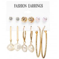 E1245 - Elegant Pearl Earring Set