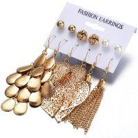E1253 - Bohemian Leaf tassel earrings