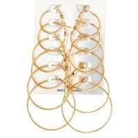 E1256 - Drop Hoop Earrings Set