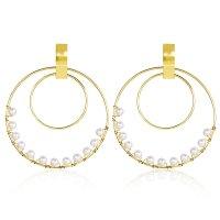 E1258 - Retro simple golden earrings