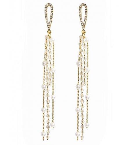 E1262 - Korean long tassel earrings