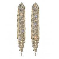 E1263 - Geometric tassel earrings