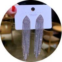 E1264 - Korean geometric tassel earrings