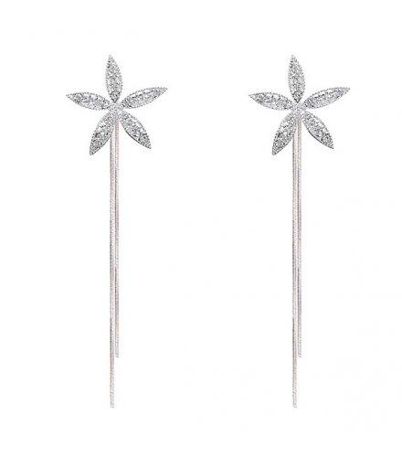E1268 - Five Petals Flower Earrings