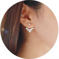 E1279 - Korean crystal daisy Earrings