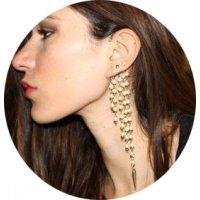 E1284 - Pearl long tassel earrings
