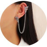 E1287 - Simple Tassel Letter Earring
