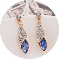 E1299 - Gem glass drop earrings