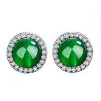 E1306 - Diamond rhinestone round gemstone earrings