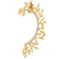 E1307 - Leaf diamond cuff earrings
