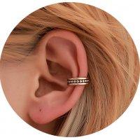 E1308 - Retro creative hollow wave ear clips