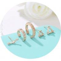 E1312 - Retro geometric set earrings