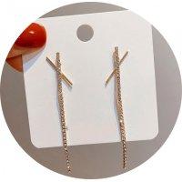 E1320 - Flashing diamond cross earrings