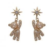 E1324 - Korean star bear earrings