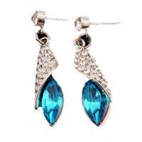 E410 - Blue Leaf Earring