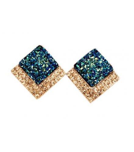 E489 -Square box earrings