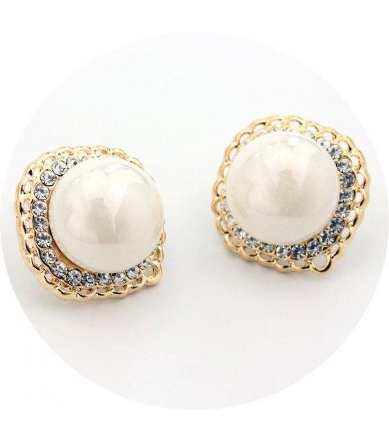 E504 - Golden Pearl Earrings