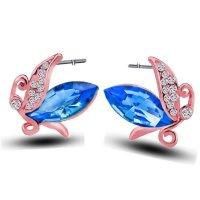 E548 - Crystal earrings rose gold earring
