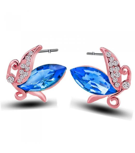 E548 - Crystal earrings rose gold earring