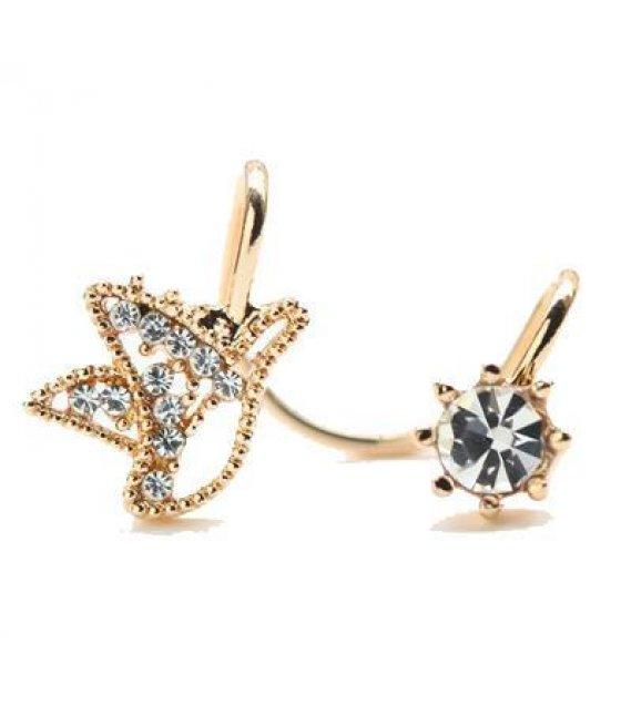 E550 - Cute bird earrings diamond ear clip