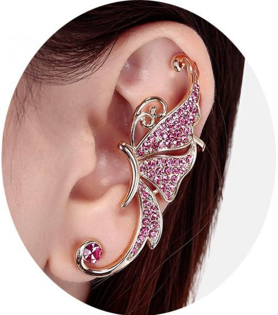 E582 - Hollow Flower Ear Clip