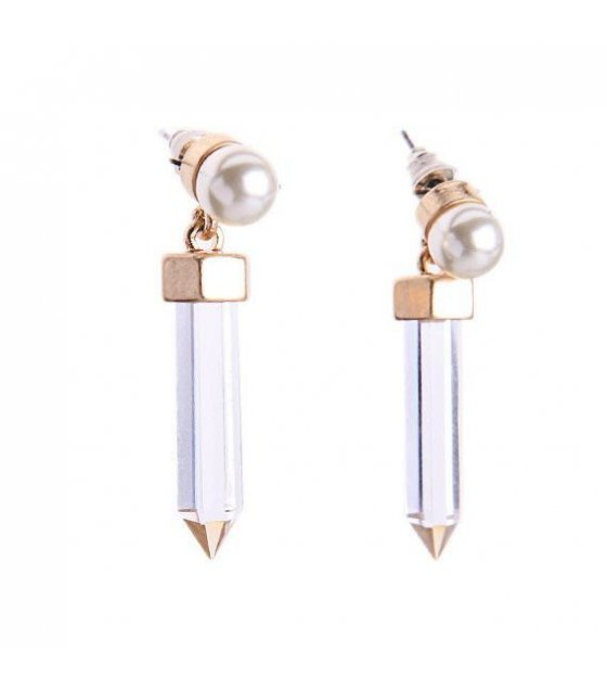 E616 - Pencil Gemstone Earrings