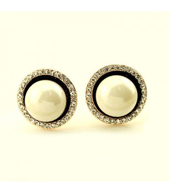 E625 - Pearl Inlay Earrings