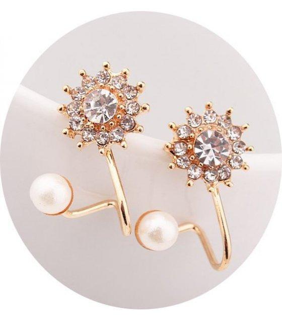 E629 - Gold Snowflakes Earrings