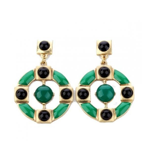 E652 - Enamel  round Earrings