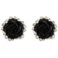 E667 - Black Rose Elegant Earring