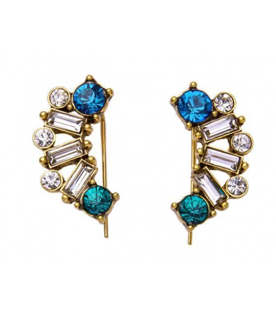 E732 - Blue Gemstone Earring