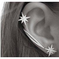 E734 - Silver Star Earrings