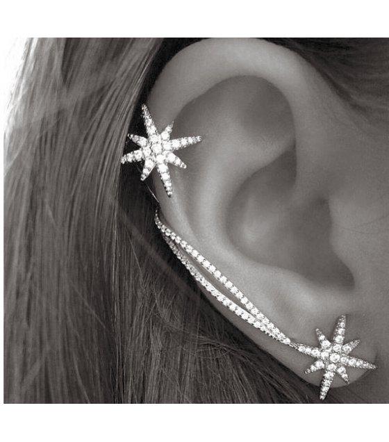 E734 - Golden Star Earrings