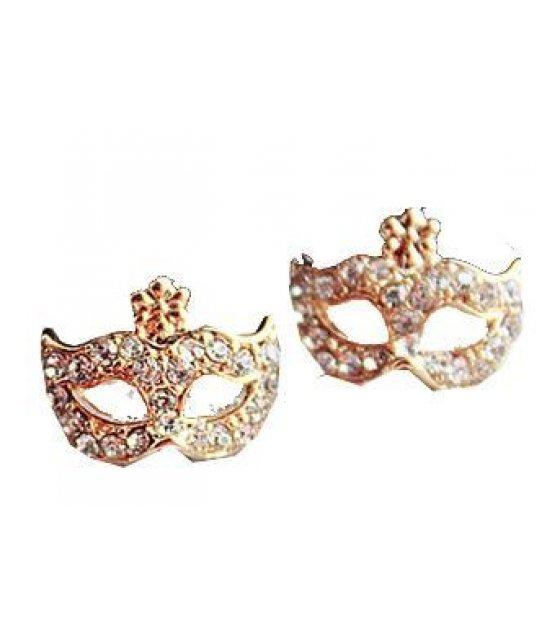E735 - Gold Mask Earrings