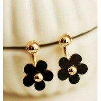 E747 - Black Flower Earrings