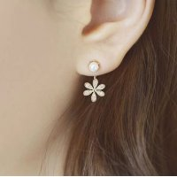 E752 - Golden Flower Earrings