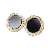 E757 - Black Gemstone Earrings