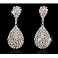 E759 - Silver Gemstone Earrings