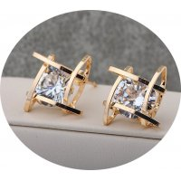 E790 - Square zircon Stud Earrings