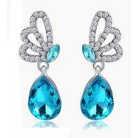 E801 - Crystal drop earrings