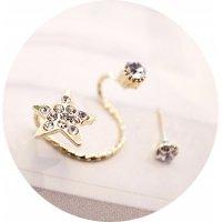 E808 - Flash diamond stars ear studs