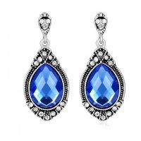 E812 - Blue gemstone earrings