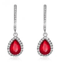 E815 - Drip crystal earrings